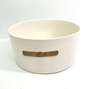 Rae Dunn STICK Fetch Dog Bowl Artisan 6 Pet Dish